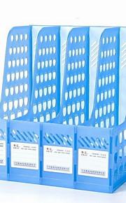 Office Supplies Transparent Plastic Four Columns File Holder