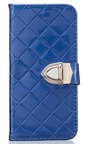 Hel kropp plånbok / Korthållare / Stötsäker Solid Färg PU-läder Mjuk Can insert card, drop Fallet täcker för Samsung GalaxyS7 edge / S7 /