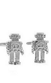 Manchetknapper sæt 1 par,Ensfarvet Sølv Mode Manchetknapper Mænds Smykker