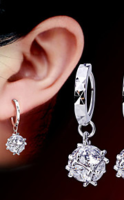 Circle Shape,Smykker 1 par Yndig / Imiteret Perle / Moderigtig Sølv Perle / Legering Party / Daglig