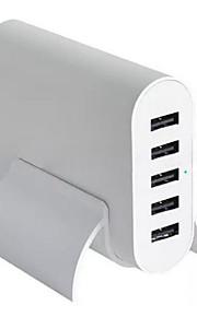 5 Porte USB Porte Multi Presa US caricatore domestico con cavo per iPad / per il cellulare / For iPhone5V , 1A / 2,1A / 2A / 0.5A)