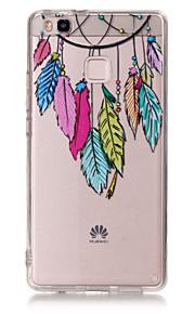 Capa traseira Ultra Fino / Transparentes / Estampa Apanhador de Sonhos TPU Macio Case Capa Para HuaweiHuawei P9 / Huawei P9 Lite / Huawei