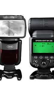 sidande df-550 speedlight câmera SLR superior externa speedlight lâmpada de flash para Canon / Nikon / Pentax / Fujifilm / samsung