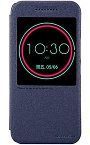 Hel kropp Stötsäker / med Windows / Auto Sleep/Wake Up / Flip / Ultratunn / Frostad Solid Färg PU-läder Hård Fallet täcker för HTC HTC M10