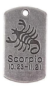 10stk nye legering dele tolv stjernebilledet Skorpionen firkantede tilbehør