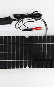 zdm® 5.5w 12v usb utgang monokrystallinske silisium solcellepanel (dc12-18v)