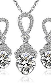kan polly mode diamant øreringe halskæde sæt