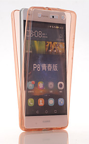 Hel kropp Ultratunn Solid Färg TPU Mjuk Fallet täcker för Huawei Huawei P8 Lite
