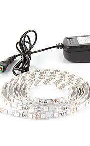 # 1 M 60 5050 SMD Rød / Blå Vanntett / Selvklebende W Fleksible LED-lysstriper DC12 V