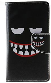 Cuerpo Completo billetera / Soporte de Tarjeta / A Prueba de Golpes / A Prueba de Polvo / con el soporte Negro y Blanco Cuero Sintético