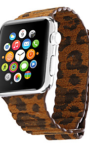 Yellow Leopard Genuine Leather Leopard Red Leather Leather Loop For Apple Watch 38mm / 42mm