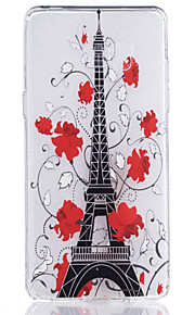 TPU Material Red Tower Pattern Painted Relief Phone Case for Samsung Galaxy Note 7