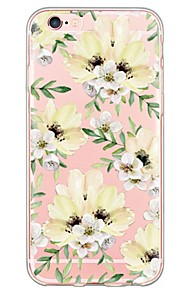 Skal Ultratunn / Genomskinlig Blomma TPU Mjuk Fallet täcker för Apple iPhone 6s Plus/6 Plus / iPhone 6s/6 / iPhone SE/5s/5