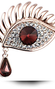 Women's Fashion Crystal Rhinestone Brooches Gold Plated Party Prom Dress Accessories Pins Jewelry Brooches