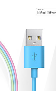 Lightning USB 2.0 Data och synkronisering Sladd Laddningskabel Laddningssladd Normal Kabel Till Apple iPhone iPad 100 cm TPE