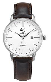 Mulheres Relógio de Moda / Relógio de Pulso Quartz Calendário / Impermeável Couro Legitimo Banda Vintage / Casual Marrom marca