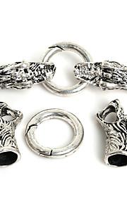 Hole Size 8mm Sølv 1 Set Smykker
