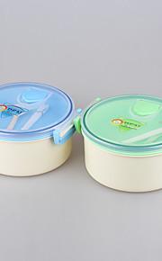 forme de marque yooyee meilleure ronde / double couche microwavable isolée boîte à double compartiment déjeuner