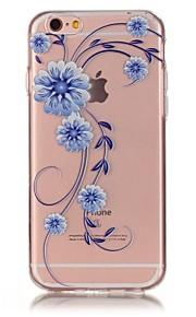 Rückseite Ultra dünn / Waffeloptik / Muster Blume TPU Weich Fall-Abdeckung für Apple iPhone 6s Plus/6 Plus / iPhone 6s/6 / iPhone SE/5s/5