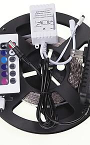 5m 16.4ft RGB 300x5630 SMD LED controlers רצועות + RGB אור הוביל גמיש + ספק כוח ac100-240v