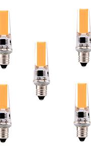 5W E11 LED-lamper med G-sokkel T 1 COB 400-500 lm Varm hvit / Kjølig hvit Dimbar / Dekorativ AC 110-130 V 5 stk.