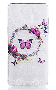 TPU Material Butterfly Pattern Pattern Painted Relief Phone Case for Samsung Galaxy Note 7
