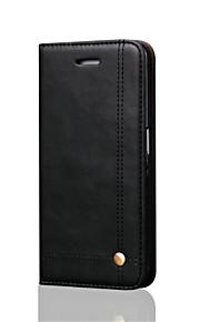 כל הגוף ארנק / מחזיק כרטיסים / עם מעמד / לְהַעִיף / מגנטי צבע אחיד עור אמיתי קשיח Case כיסוי Samsung Galaxy Note 7