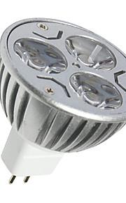 3 GU5.3(MR16) LED-spotpærer MR16 3 SMD 250LM lm Varm hvit / Kjølig hvit Dekorativ DC 12 V 1 stk.