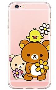 del patrón del oso TPU de la historieta contraportada suave translúcido ultrafino para el iPhone de Apple 6s 6 Plus SE / 5s / 5