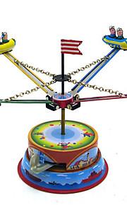 Игрушка новизны / Логические игрушки / Игрушка с заводом Игрушка новизны / / Карусель / Космический корабль Металл Коричневый Для детей