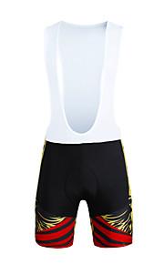 High Elastic Man Bicycle Straps Shorts PaladinSport DX660 Yellow Skeleton