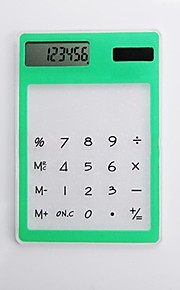 (Random color) 1PC  Ultra-Thin Multifunctional Transparent Calculator