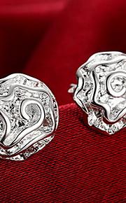 personlighed ol fine s925 sølv enkelhed zircon rose blomst stud øreringe til kvinder bryllupsfest smykker