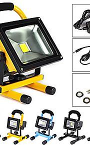 10 Bærbare lamper 600-900 lm Varm hvit / Kjølig hvit Integrert LED Oppladbar / Vanntett AC 100-240 V 1 stk