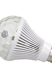 e27 6w levou-3 300lm luz colorida rgb automática lâmpada giratória deco