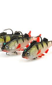3pcs Soft Baits / Shads / Jerkbaits Lead Fish 6.5cm/9g Fishing Lure with Two Hooks