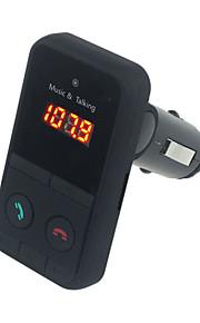 Hand Free Wireless Bluetooth FM Transmitter Modulator Car Kit MP3 Player  LCD Remote Controll Car Music Player