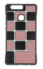 Capa traseira Estampa Teste padrão geométrico TPU Macio Case Capa Para Huawei Huawei P9 / Huawei P9 Lite / Huawei P9 Plus