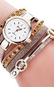 Mulheres Relógio de Moda / Bracele Relógio Quartz / PU Banda Legal / Casual Preta / Branco / Azul / Vermelho / Marrom / Rosa marca