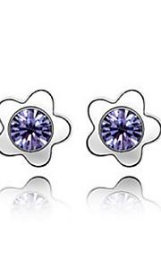 Øreringe Flower Shape Smykker 1 par Mode Daglig Legering Dame Sølv