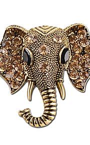 mode smykker boheme elefant krystal brocher damemode