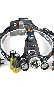 Belysning Pandelamper Forlygte stropper sikkerhedslys LED 13000 Lumen 1 Tilstand Cree XM-L T6 18650 Lygtehoved Super let