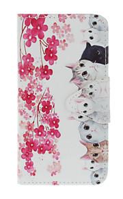 pittura gatto materiale TPU Mobile Shell con slot per schede di basamento per il iphone 7 7plus 6s 5s 6plus SE 5