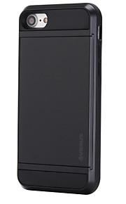 Skal Korthållare Solid Färg PC Hård Fallet täcker för Apple iPhone 7 Plus / iPhone 7 / iPhone 6s Plus/6 Plus / iPhone 6s/6