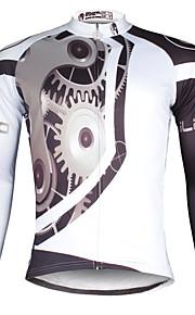 ILPaladin Sport Men Long Sleeve Cycling Jerseys  CX617 White Machinery