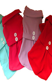 Holdhoney Dog Dress Red / Blue / Purple / Rose Dog Clothes Spring/Fall Solid Fashion #LT15050277