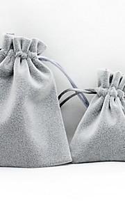 Smykketasker Stof 1pc Grå