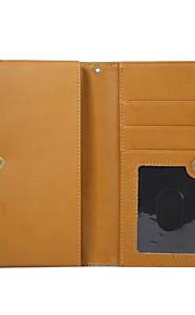 Cuerpo Completo billetera / Soporte de Tarjeta / Dar la vuelta Color Sólido Cuero Sintético Duro Cubierta del caso para Universal Other