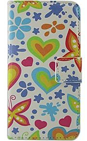 Cuerpo Completo billetera / Soporte de Tarjeta / Dar la vuelta / Diseño Heart Cuero Sintético Duro Cubierta del caso para NokiaNokia