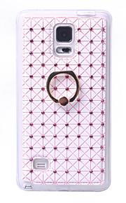 Per retro Supporto ad anello Fiore decorativo Similpelle Difficile Copertura di caso per Samsung Galaxy Note 5 / Note 4